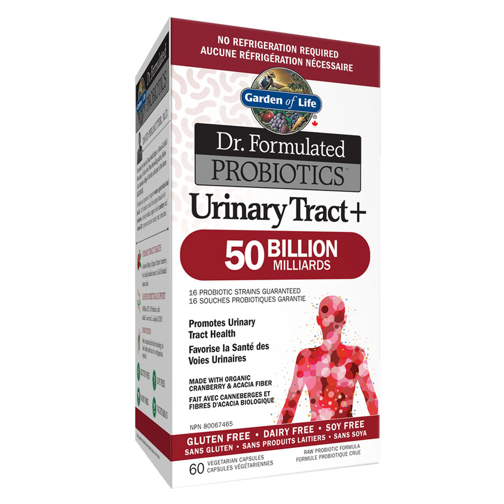 : Garden of Life Dr. Formulated Urinary Tract 50B Probiotics, Shelf Stable